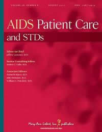 Caption: AIDS Patient Care and STDs is the leading journal for clinicians, enabling them to keep pace with the latest developments in this evolving field. Credit: ©2012 Mary Ann Liebert, Inc., publishers