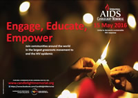 AIDS Candlelight Memorial 2016: Engage, Educate, Empower! May 15, 2016 - www.candlelightmemorial.org