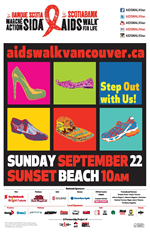 AIDS WALK FOR LIFE VANCOUVER - SUNDAY, SEPTEMBER 22, 2013 - www.aidswalkvancouver.ca
