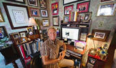 Photo: Bradford McIntyre at his in home office.