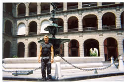 Photo: Bradford McIntyre at the National Palace, Mexico City, Mexico. 2004