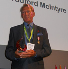 Bradford McIntyre receiving the PRIDE Legacy Award, July 20, 2013 - PRIDE Legacy Awards presented by TELUS.: