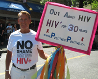 Bradford McIntyre says it's important to end the stigma over being HIV positive.Photo Credit: Charlie Smith