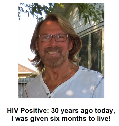 Photo: Bradford McIntyre, HIV Positive: 30 years ago today, I was given six months to live!