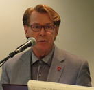 Photo: Bradford McIntyre, Guest Speaker, Fostering End-of-Life Conversations, Community Care Among LGBT Older Adults - Town Hall Meeting - January 28, 2015. Vancouver, BC. Canada