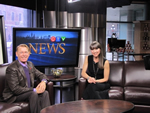 Photo: CTV Ottawa News - Leanne Cusack interview's Bradford McIntyre, living with HIV since 1984. Photo Credit: Deni Daviau