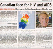 Canadian face for HIV and AIDS - Bradford McIntyre - The Province - July 31, 2013