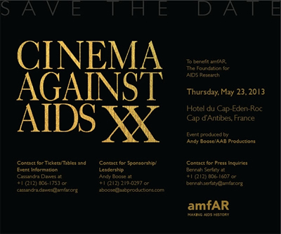 Cinema Against AIDS XX - www.amfar.org