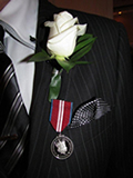 Photo: Bradford McIntyre awarded Diamond Jubilee Medal - Diamond Jubilee Medal is worn on the left side, close to the heart.
