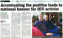 Bradford McIntyre, HIV/AIDS Advocate/Activist: Accentuating the positive leads to national honour for HIV activist - MetroNews