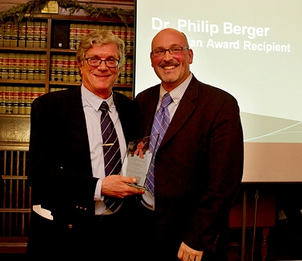 Photo: 2012 Award recipient Dr. Philip Berger with Richard Elliott