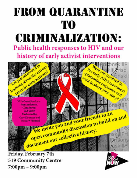 Poster: From Quarantine to Criminalization - www.aidsactionnow.org