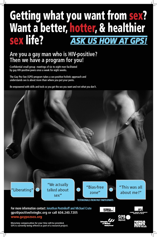 Poster: Gay Poz Sex: Getting what you want from sex? - gaypozsex.org