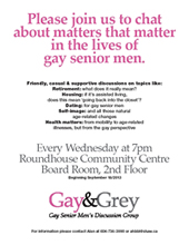 Gay&Grey Gay Men's Discussion Group