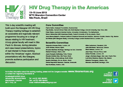 Poster: HIV Drug Therapy in the Americas 2013 - www.hivamericas.org