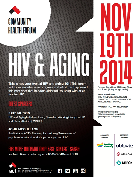 Poster: HIV & AGING - Health Forum - November 19, 2014