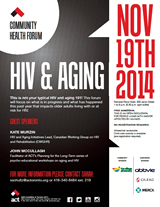 Poster: Community Forum - HIV & AGING - November 19, 2014 - www.actoronto.org