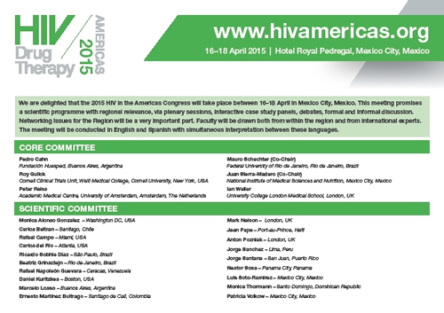 Poster 1: HIV Drug Therapy in the Americas 2015 - www.hivamericas.org