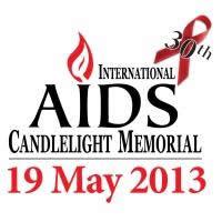 30th Anniversary logo of the International AIDS Candlelight Memorial - www.candlelightmemorial.org