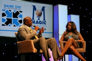 Magic Johnson and Wendy Williams. Photo credit: Ben Carter/NMAC