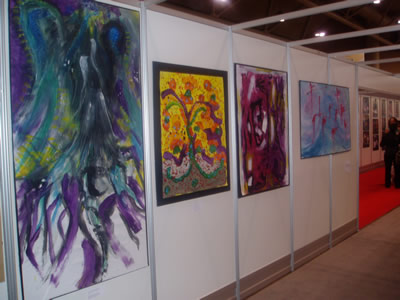 AIDS 2006: Exhibition in Global Villiage by 26 children, aged 10 - 16 who live with HIV.