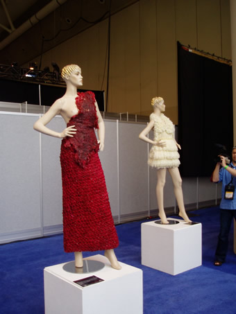 Condom Dresses made by Adriana Bertini