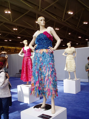 Condom Dresses by Adriana Bertini on exhibit at AIDS 2006