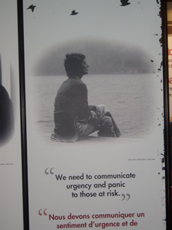 AIDS 2006: Canada Booth - Poster caption: We need to