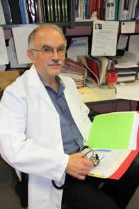 Photo- Caption: Peter Gulick is an associate professor in the College of Osteopathic Medicine. Credit: Photo by Ann Cook