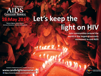 Poster International AIDS Candlelight Memorial 2014 - www.candlelightmemorial.org