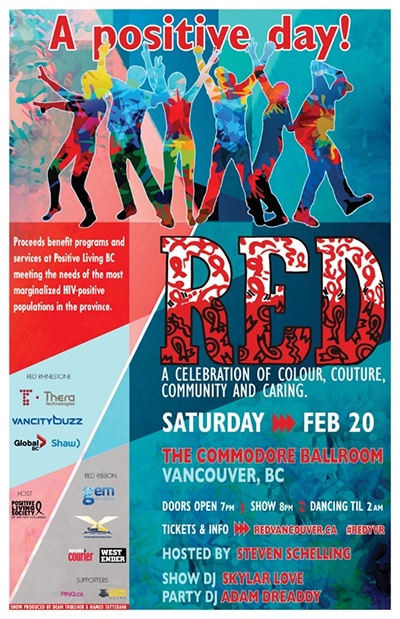 RED: A celebration of colour, couture, community, and caring - Positive Living BC Society -positivelivingbc.org