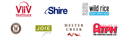 RED RIBBON GALA Sponsors: ViiV Healthcare - Shire - Wild Rice - Whistler Brewing Company - JOIE - Hester Creek - The Prining House Ltd.