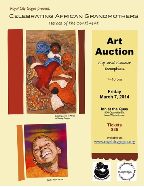 Poster: Royal City Gogos - Art Auction - March 7, 2014 - www.royalcitygogos.org