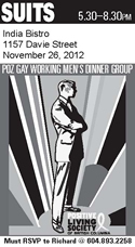 SUITS - POZ GAY WORKING MEN'S DINNER GROUP - www.positivelivingbc.org