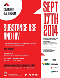 Poster: SUBSTANCE USE AND HIV - The AIDS Committee of Toronto (ACT)