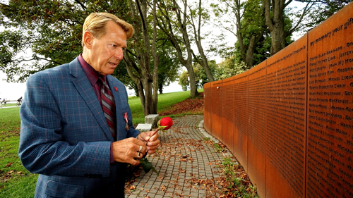 Photo: Bradford McIntyre, HIV+ since 1984, at the Vancouver AIDS Memorial. Vancouver, British Columbia, Canada.