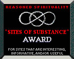 Reasoned Spitituality Sites of Substance Award - www.reasoned.org