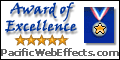 Award of Excellence - PacificWebEffects.com